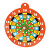 Black Wall Hanging Wing Magnet Needles Dartboard Game Tool w Orange Dart