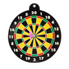 Children 15cm Dia Fun Drinking Game Black Dartboard Toy w Magnet Dart