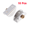 "10 Pcs Home Stainless Steel 0.47"" Thickness Glass Clip Silver Tone"