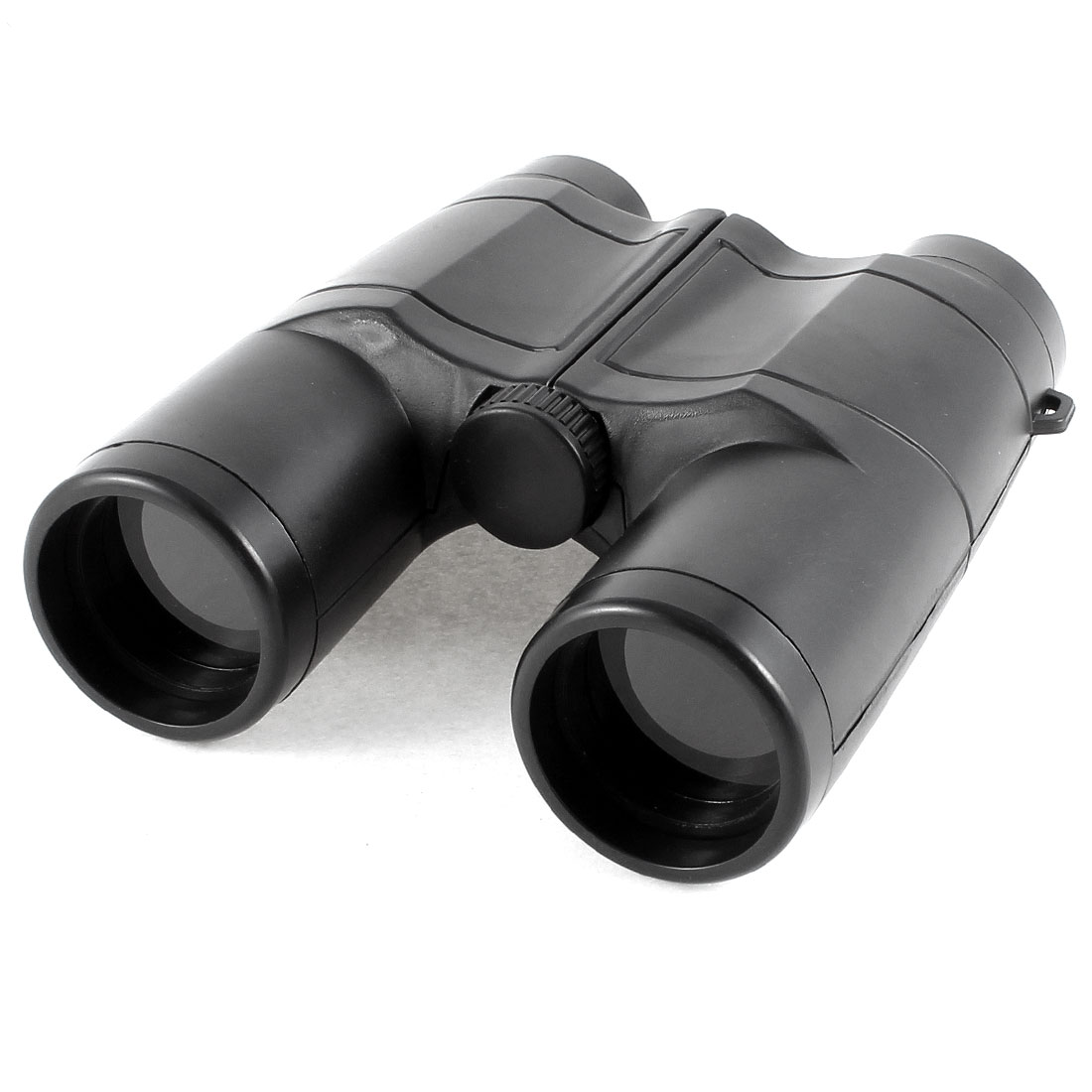 Black Foldable 4X Magnifying 35mm Dia Lens Binoculars w Neck Strap