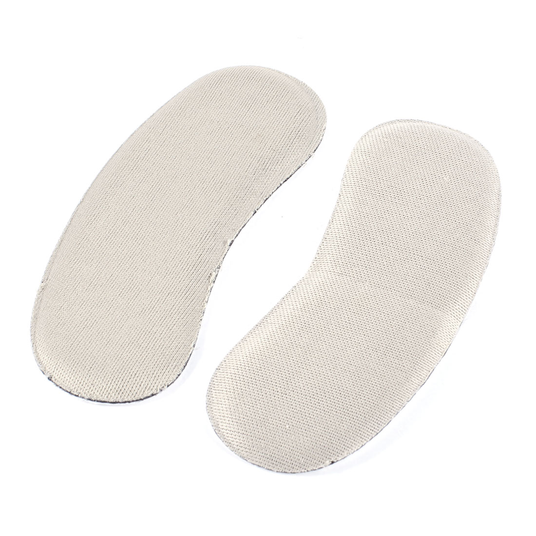 Pair Khaki Faux Leather Back Pad Heel Shoe Protector Insoles for Women