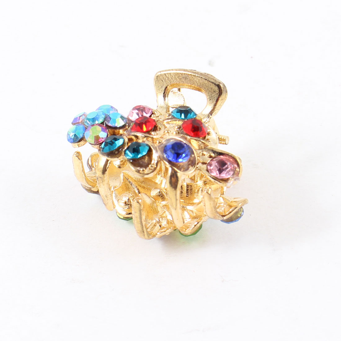 Lady Colorful Fish Design Rhinestones Decor Hair Claw Clip