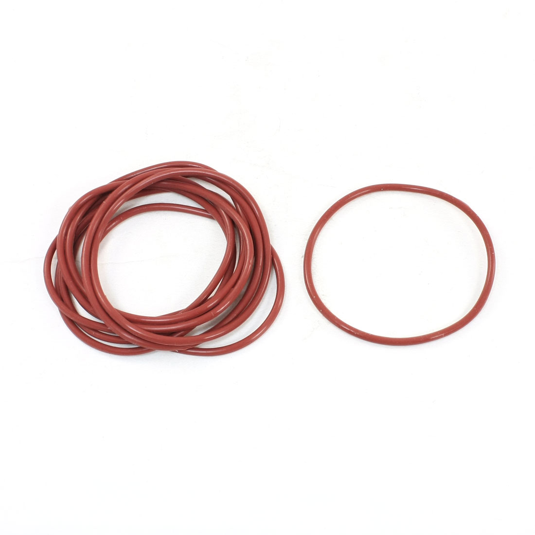 10 Pcs Brick Red O Ring Grommets Oil Sealing Gasket Washer 60mmx2.5mm