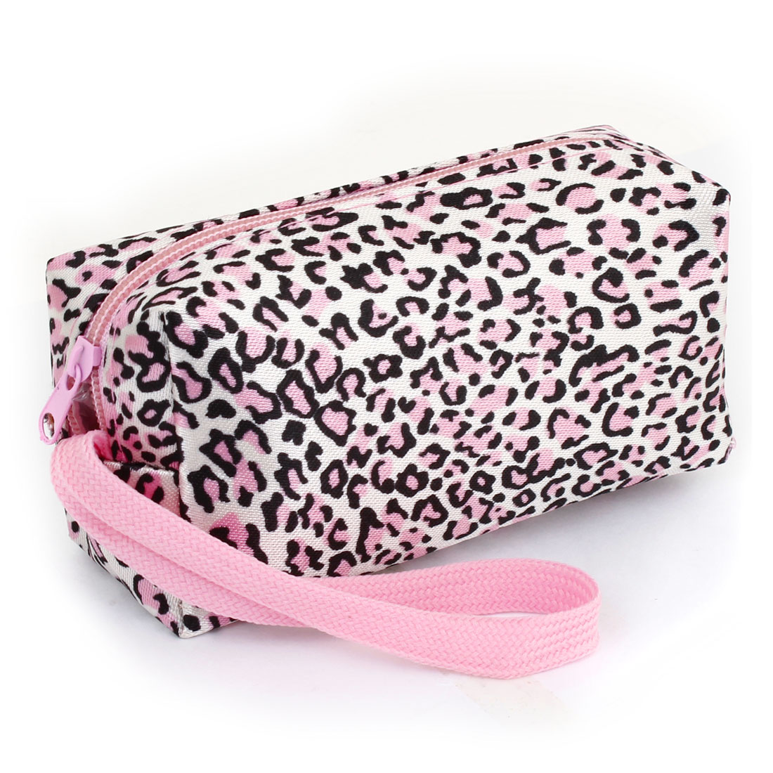 Ladies Pink White Black Leopard Pattern Coin Small Change Purses Wallet Bag
