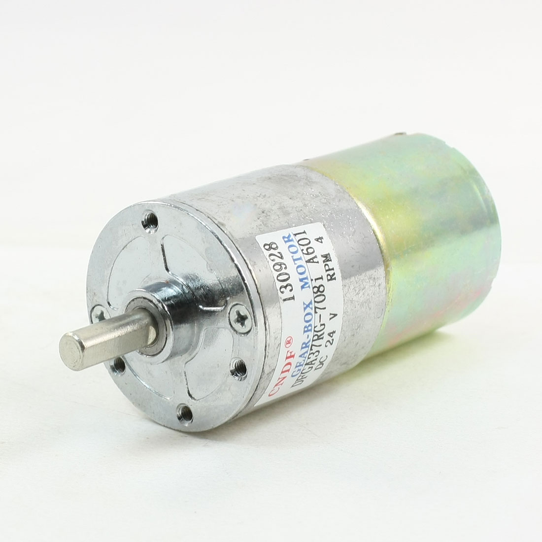 6mm Dia Shaft 4RPM Output Speed 24V DC Gear Box Motor
