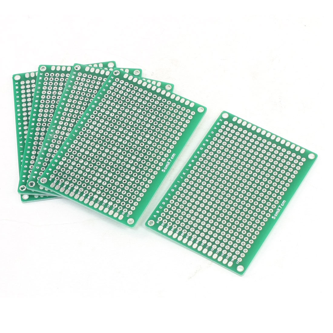 5 Pcs Prototyping Dual Side Green Copper PCB Board Stripboard 5x7cm