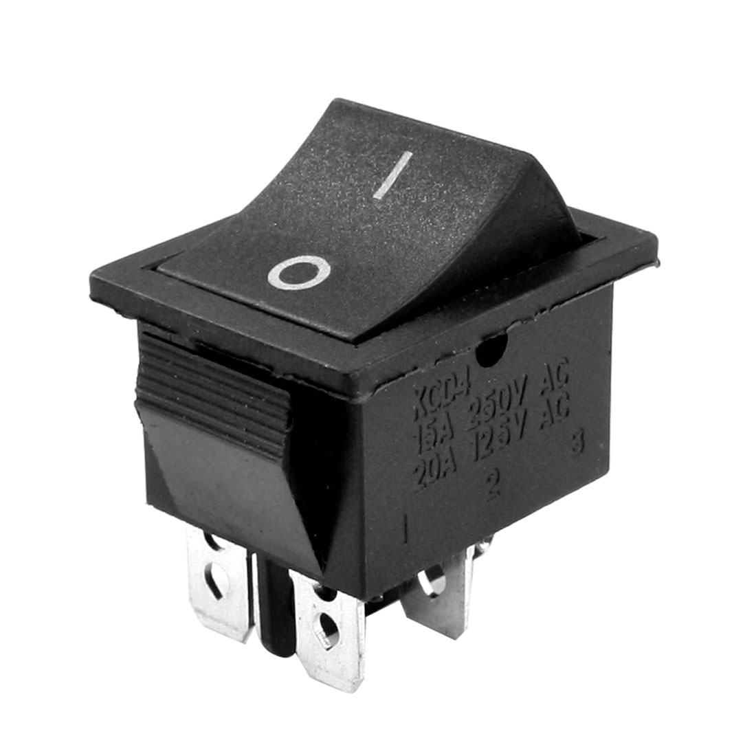 I/O ON/OFF 2 Position 4 Pin Solder DPST Snap in Mounting Rocker Switch