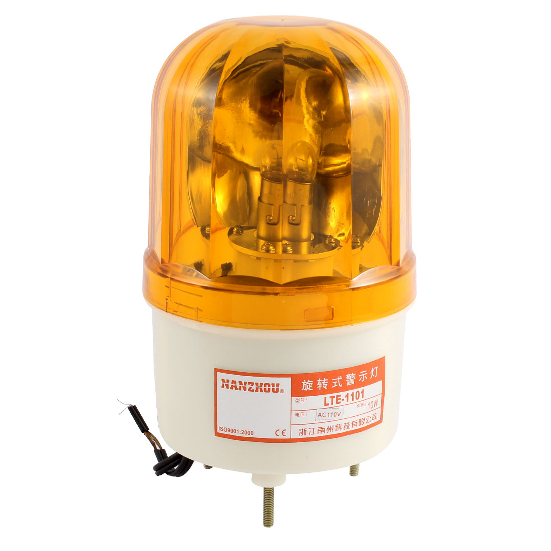 AC 110V Yellow Rotating Flash Light Mechanical Industrial Signal Warn Lamp