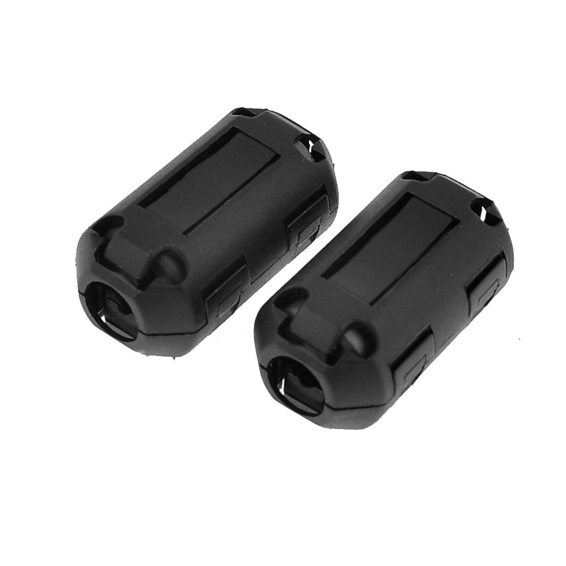 Black Plastic Casing Ferrite Core Clamp Filter UF70B 2Pcs