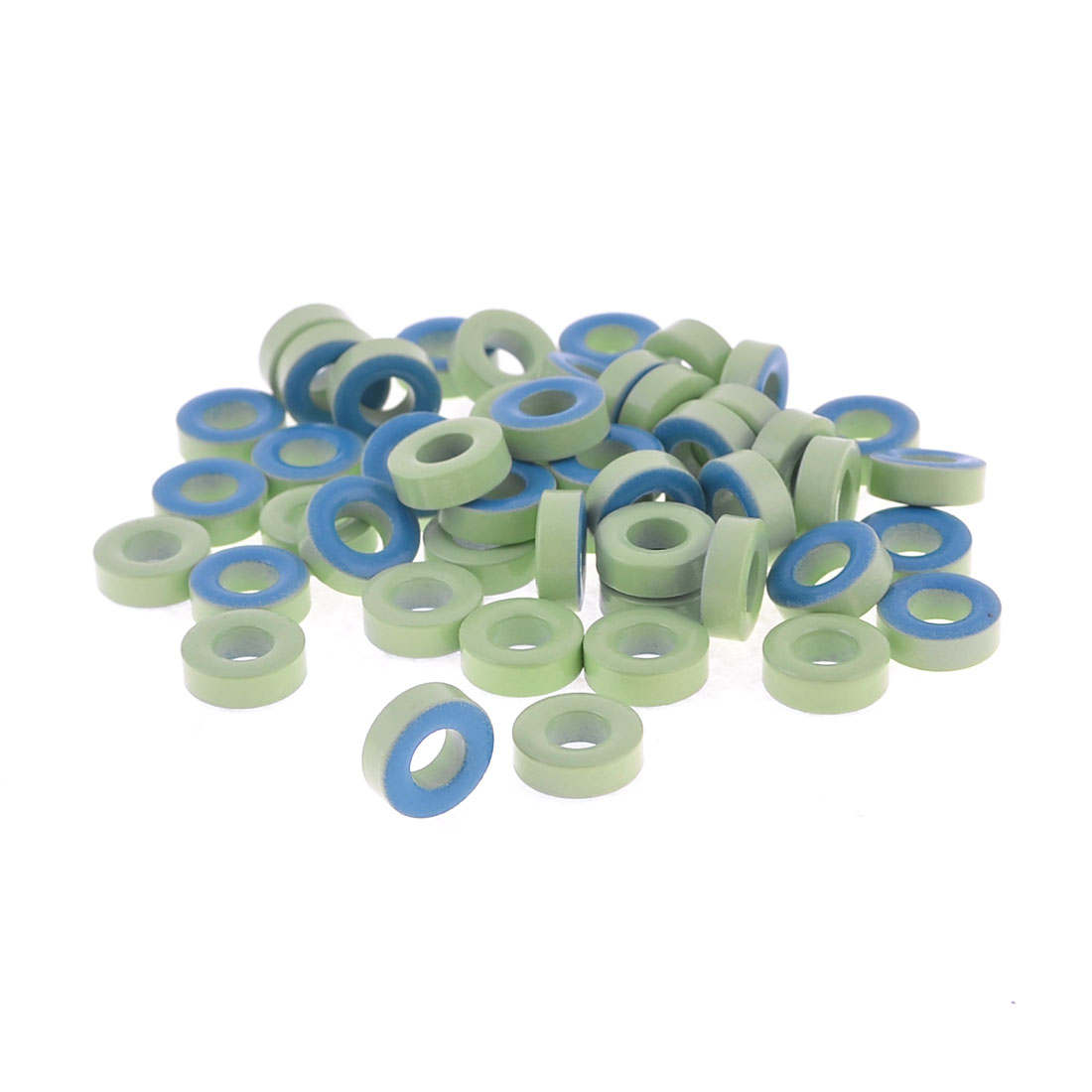 50Pcs Pale Green Blue Iron Core Power Inductor Ferrite Rings AT44-52