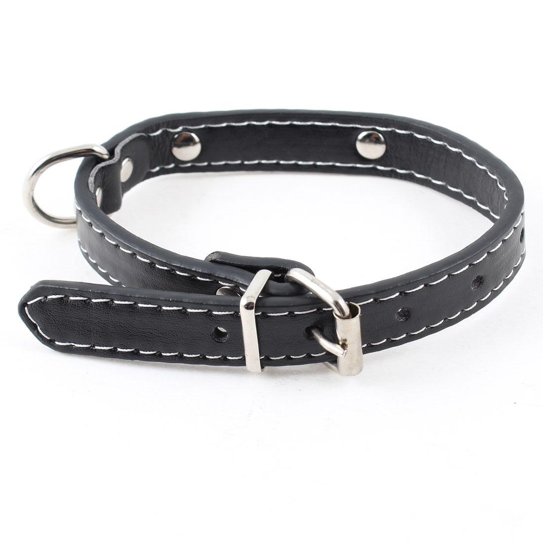 Single Prong Buckle Adjustable Band Pet Dog Puppy Collar Belt Black