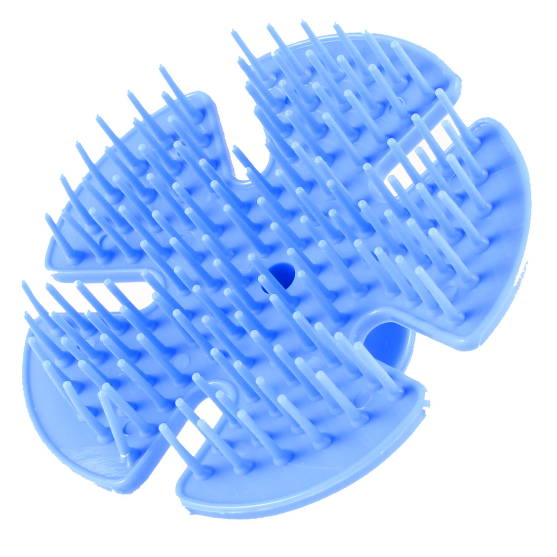Salon Blue Round Plastic Grip Hair Scalp Shampoo Brushes Massager