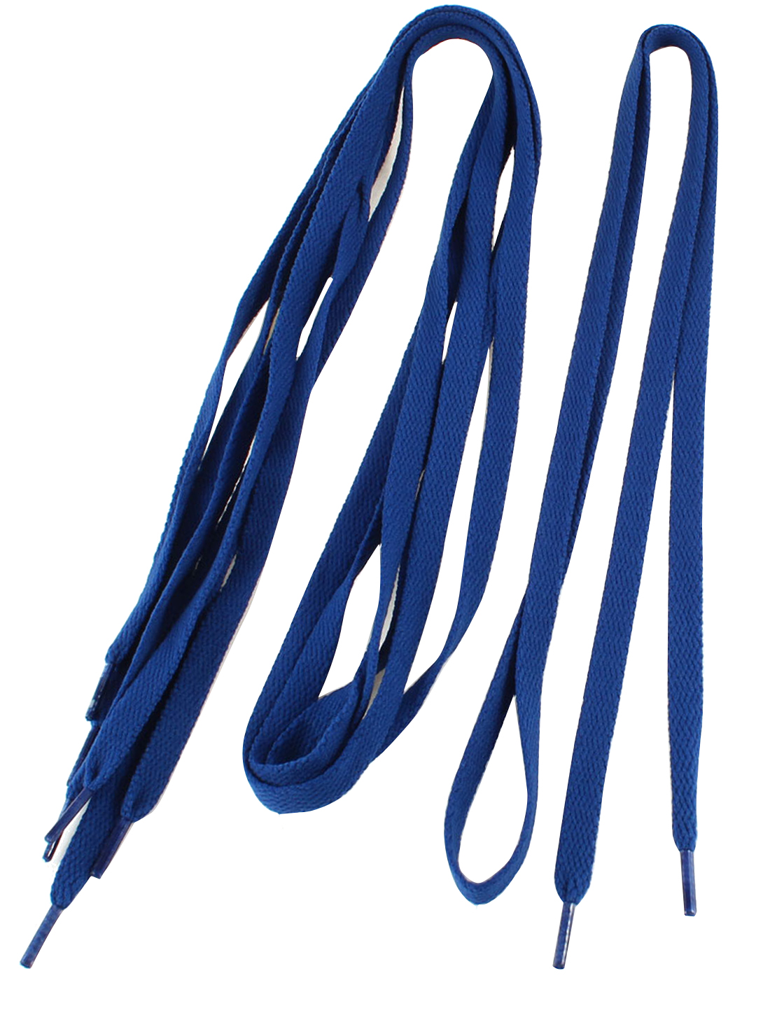Woman Blue Nylon Flat Shoelaces Trainer Sport Shoe Laces 2 Pairs