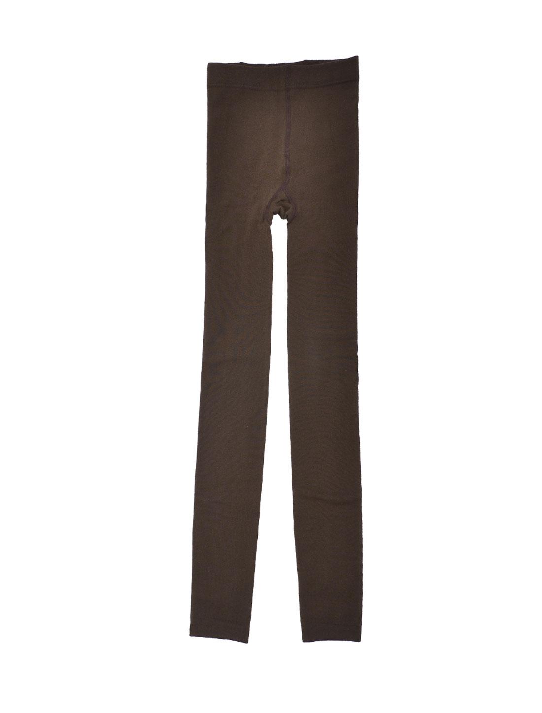 Winter Brown Stretch Fleece Lined Tights Nine Pants Leggings XS
