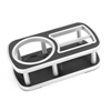 Auto Car Plastic Adhesive Bottle Holder Drink Table Black Silver Tone
