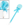 Blue White Nylon Wrapped Lolipop Design Dot Print Ball Point Pen