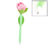 Green Light Pink Velvet Wrapped Rose Style Ballpen Ball Point Pen