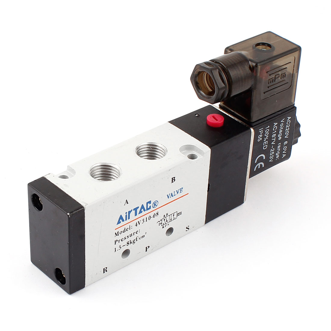 4V310-08 PT 1/4 Five Ports Two Position Pneumatic Solenoid Valve 220V