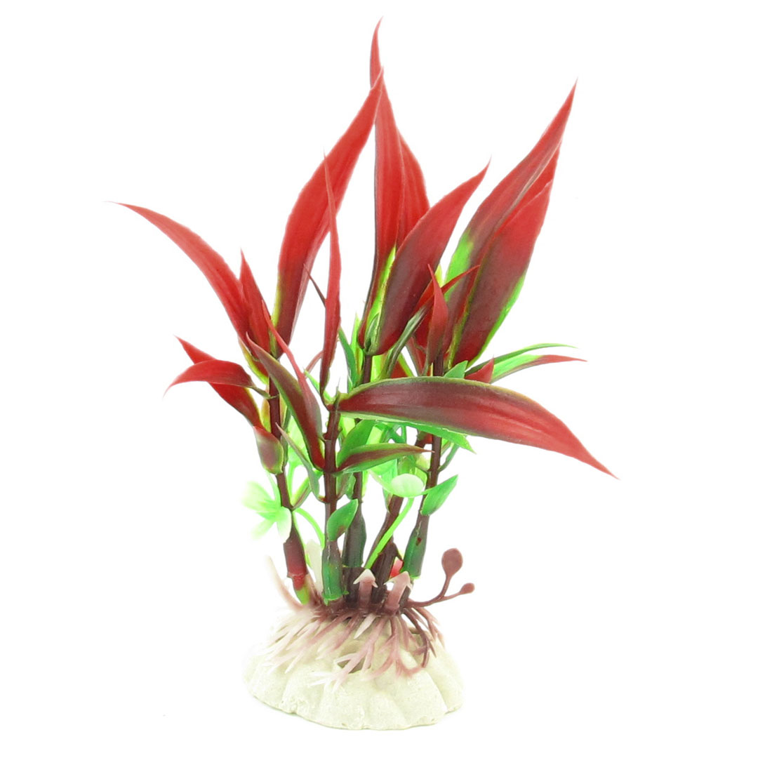 10cm Height Fish Tank Underwater Aquascaping Red Green Plastic Plant