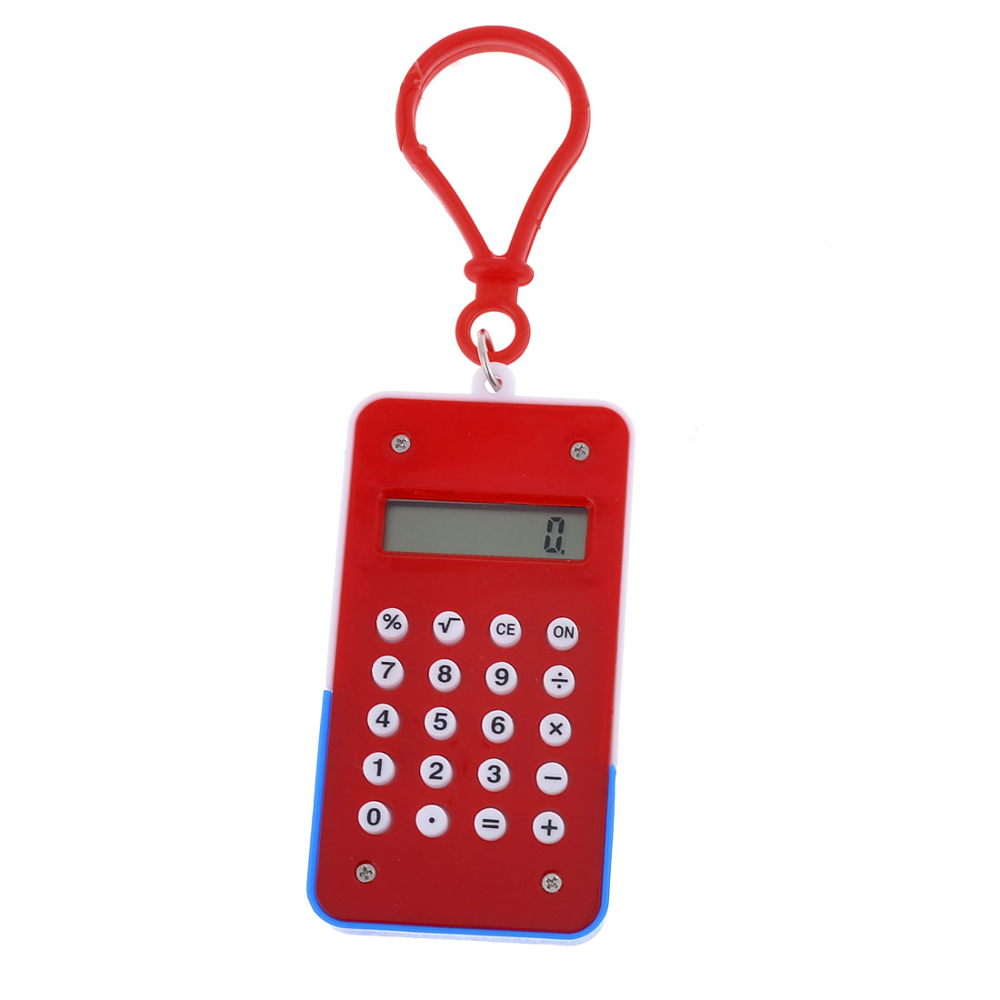 Red Rectangle Shape 8 Digits Electronic Pocket Mini Calculator