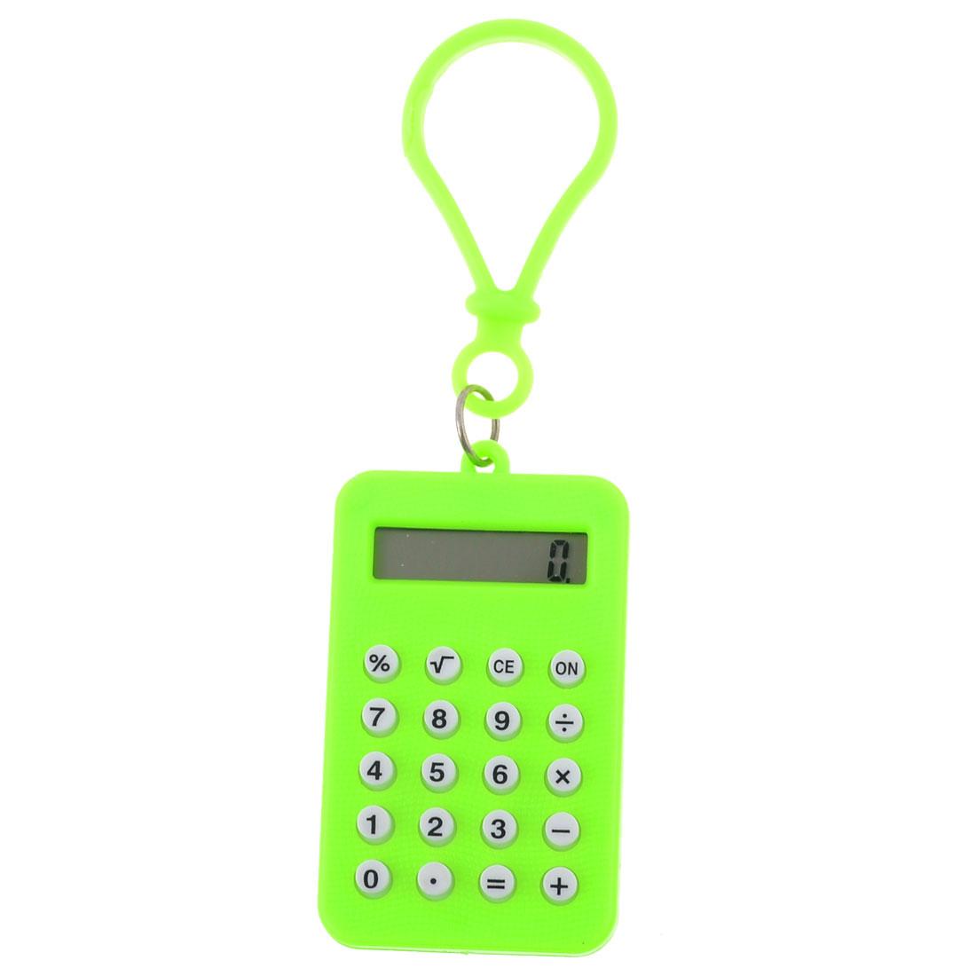 Plastic Bright Green 8 Digits Difital Mini Electronic Calculator
