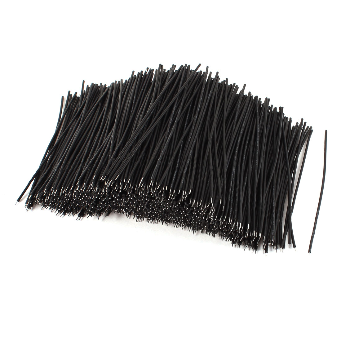 1000 Pcs Black PVC Tin Plated Copper 0.3x100mm 26AWG Wire Brushless Motor Cable