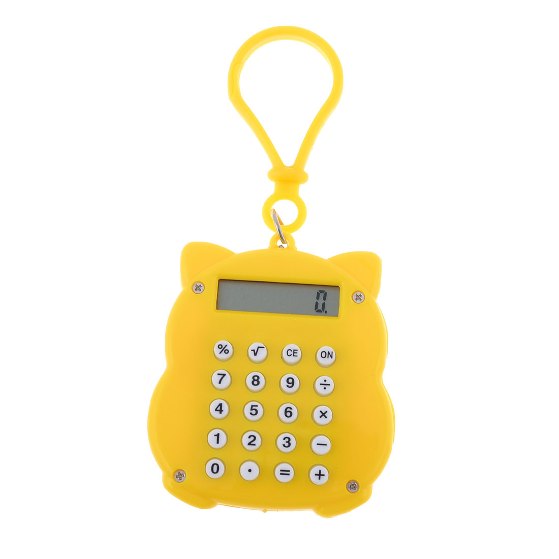 Electronic Digital LCD Display Yellow Mini Maneki Neko Calculator