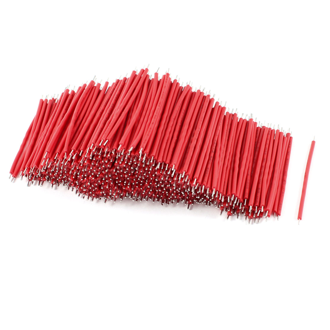 500 Pcs Red PVC Tin Plated Copper 0.5x50mm 22AWG Wire Brushless Motor Cable