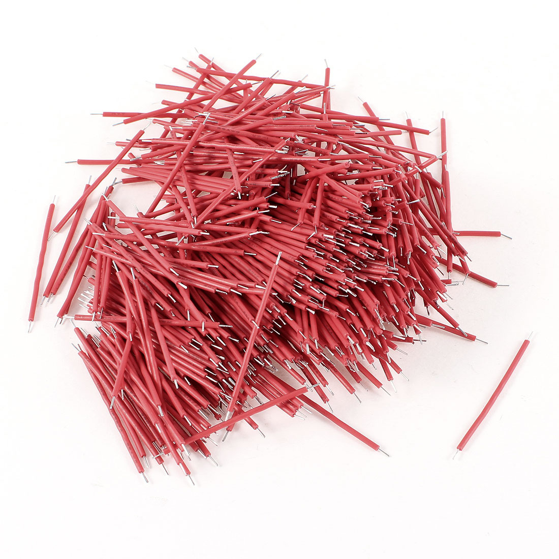 500 Pcs Red PVC Tin Plated Copper 0.4x40mm 26AWG Wire Brushless Motor Cable