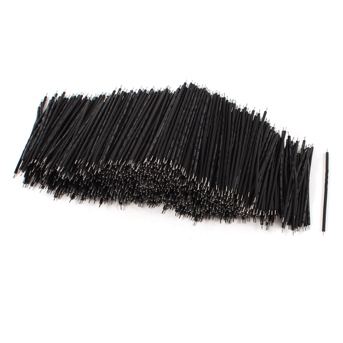 1000 Pcs Black PVC Tin Plated Copper 0.4x60mm 26AWG Wire Brushless Motor Cable