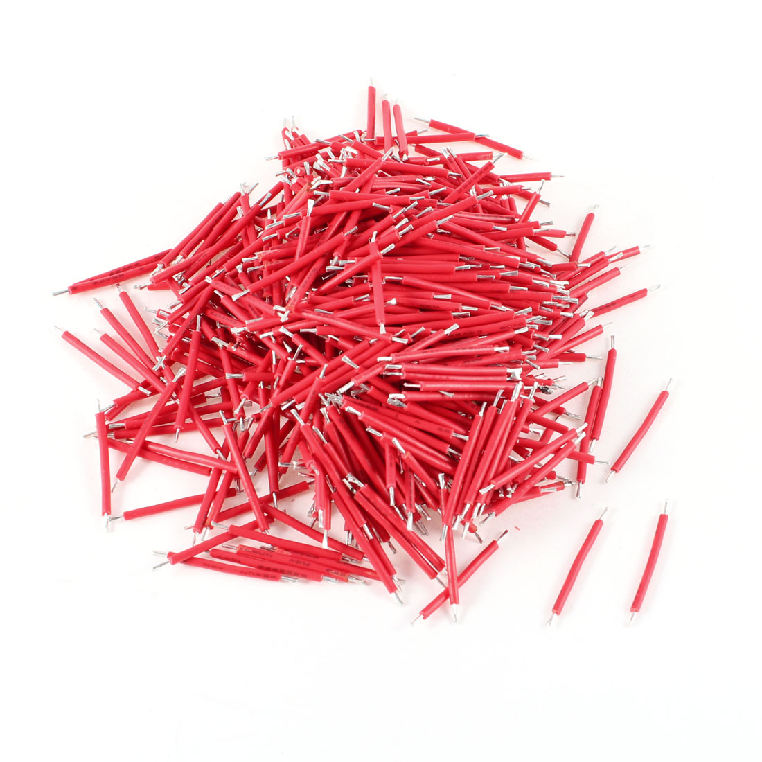 500 Pcs Red PVC Tin Plated Copper 0.7x25mm 22AWG Wire Brushless Motor Cable