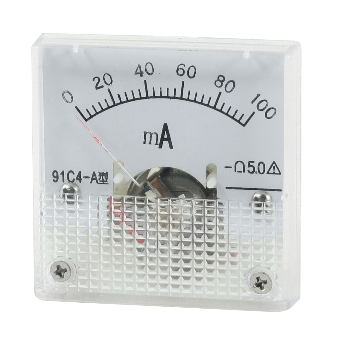 Plastic Shell DC 0-100mA Current Analog Panel Meter Tester Ammeter