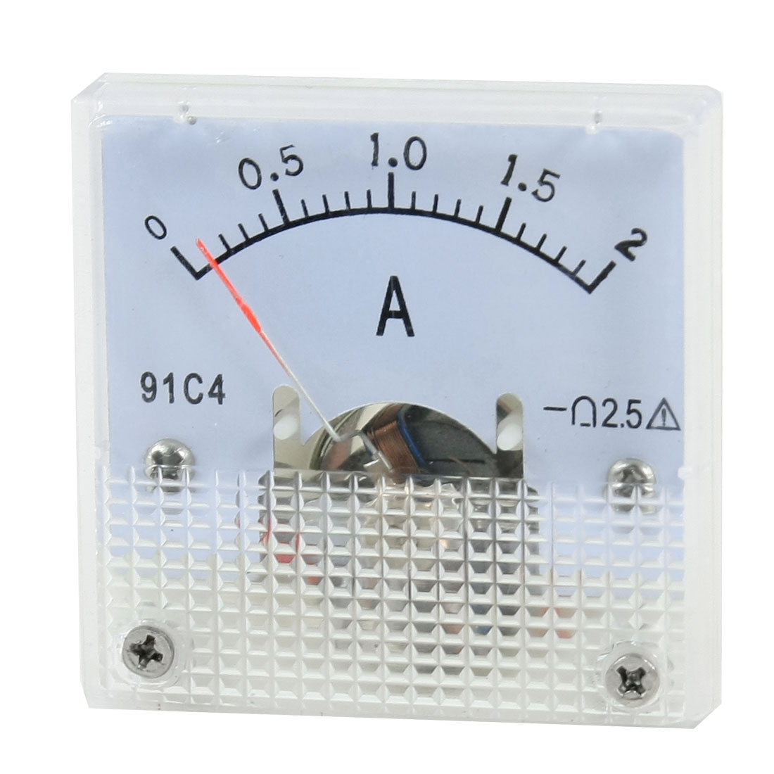 Class 2.5 DC 0-2A Analogue Ampere Panel Meter Amperemeter 91C4