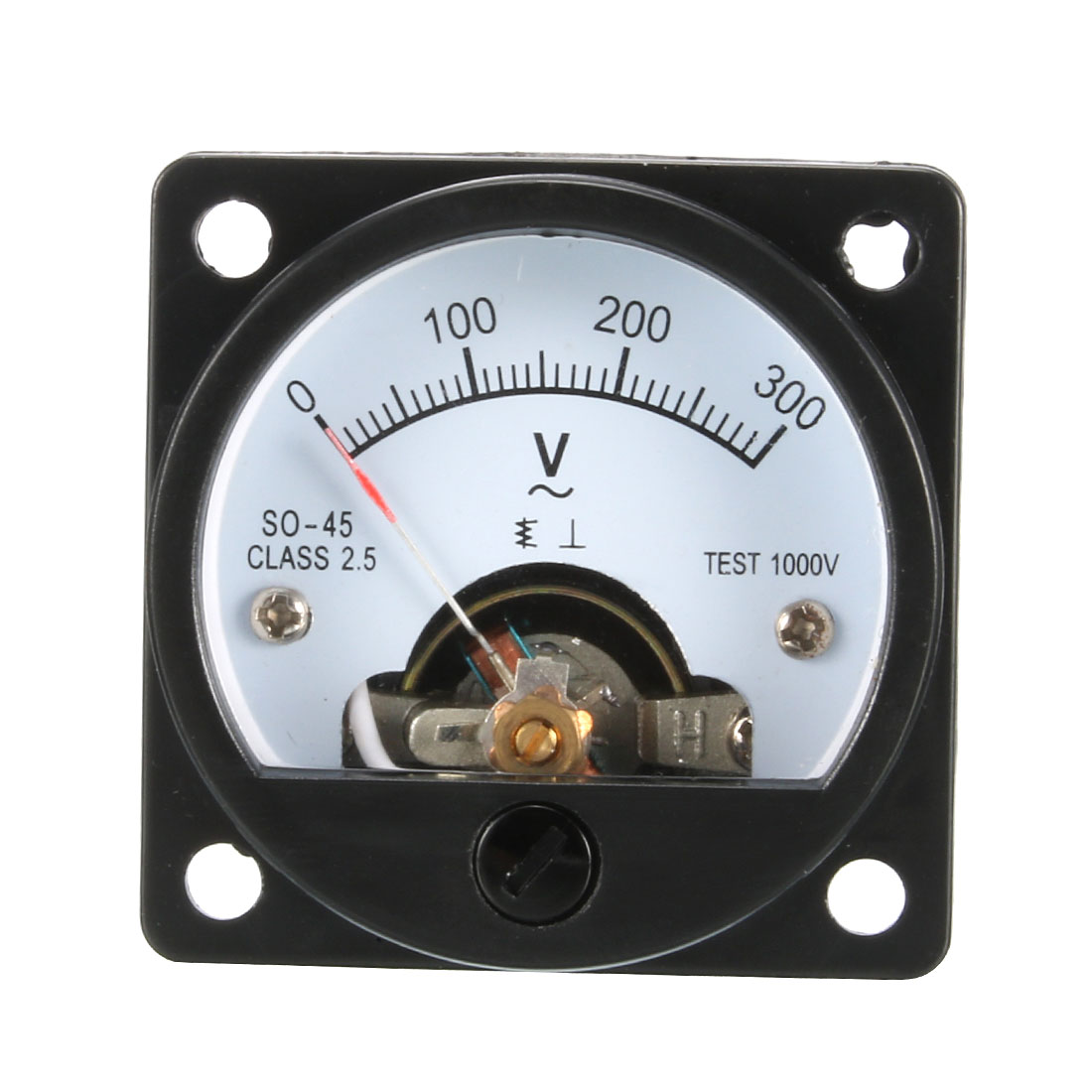 Plastic AC 0-300V Range Analog Voltmeter Voltage Gauge Panel Meter