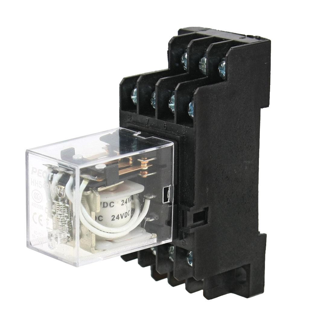 DC 24V Coil Volt Power Relay 14 Pin 4PDT 4NO 4NC HH54P w PFY14A Socket