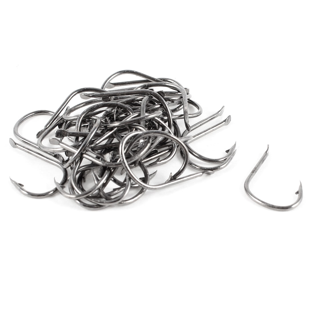 60 Pcs Fishing Eyeless Barbed Fish Hooks 9# w Clear Plastic Case