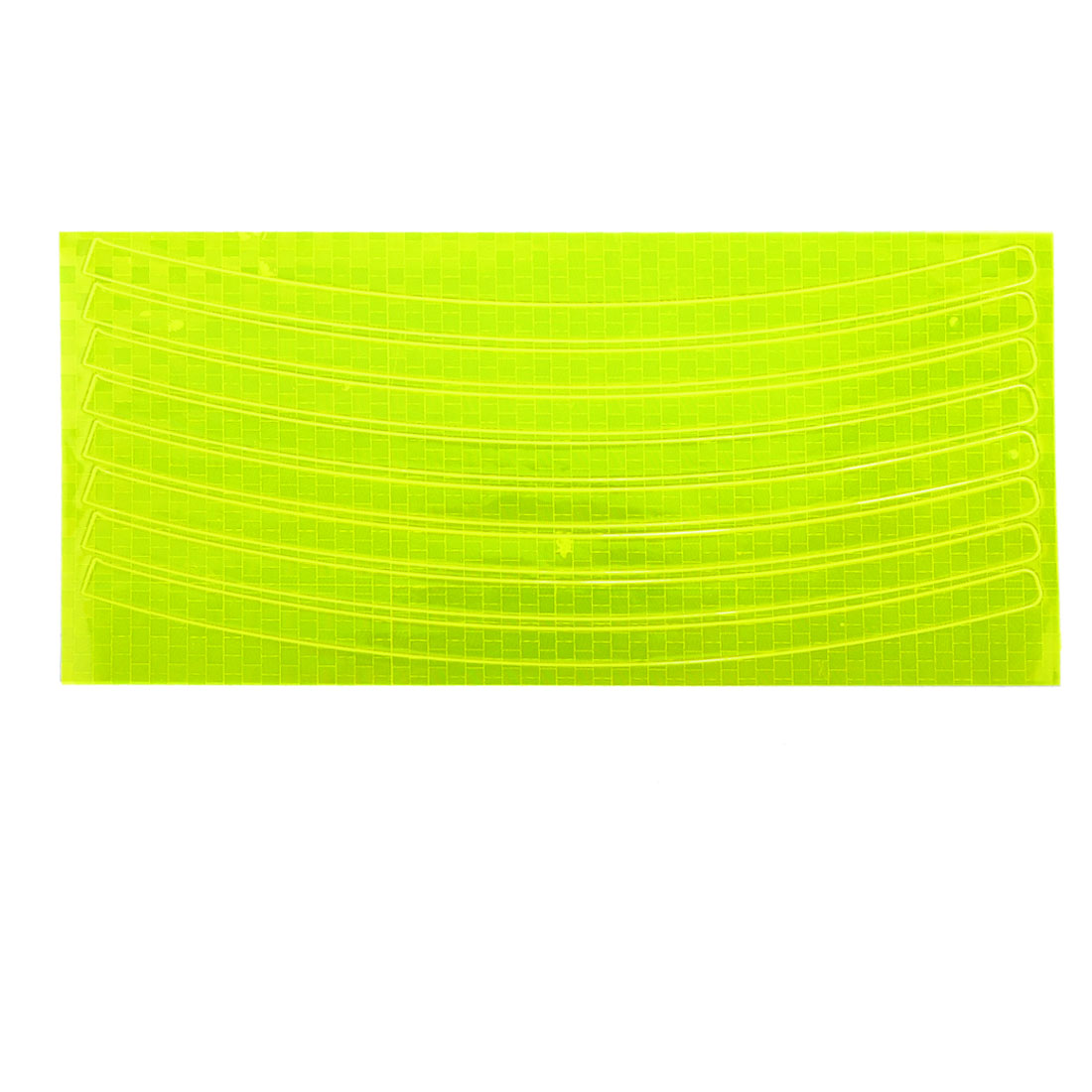 Replaceable Bicycle Wheels Rims Decor Reflective Sticker Fluorescent Yellow