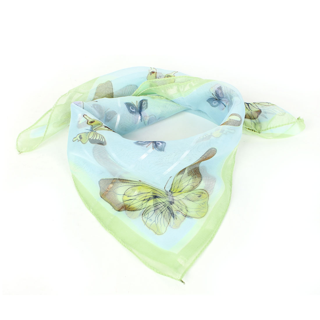 Butterfly Prints Warm Neck Scarf Neckerchief Green Blue for Women