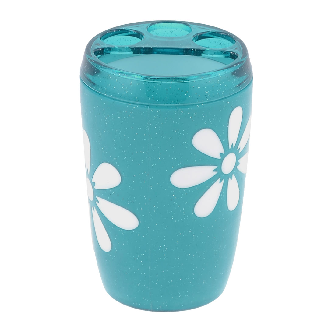 Bathroom Turquoise Plastic Gargle Toothbrush Cup 370ml