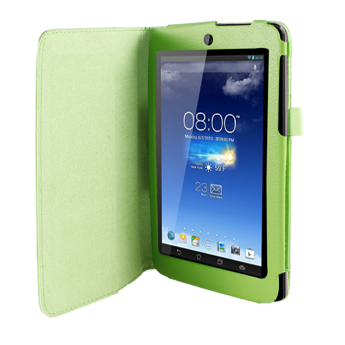 Stand Magnetic Flip Protective Case Cover Green for ASUS MeMO Pad HD 7 ME173X
