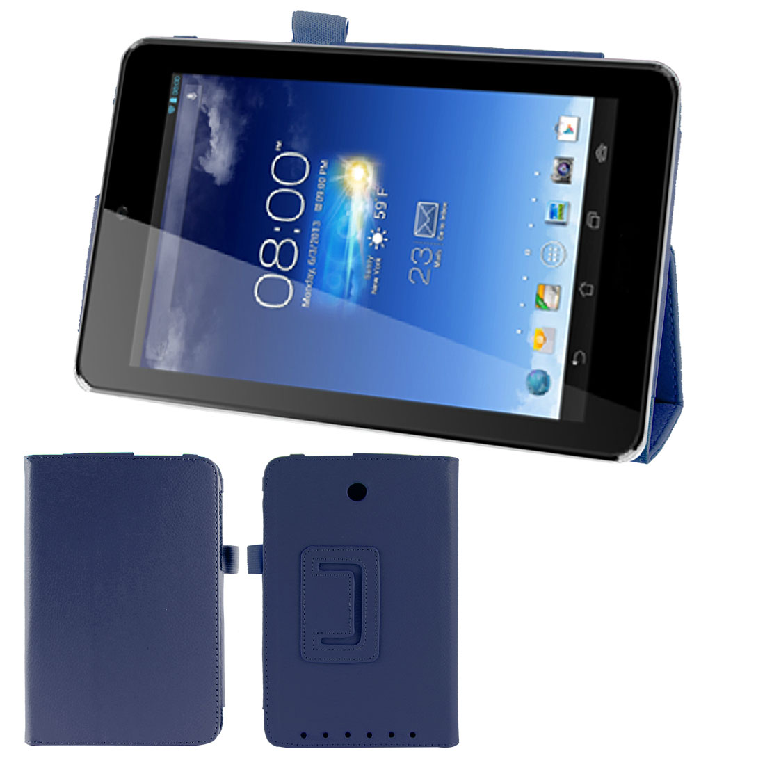 Stand Magnetic Flip Protective Case Cover Dark Blue for ASUS MeMO Pad 7 ME173X