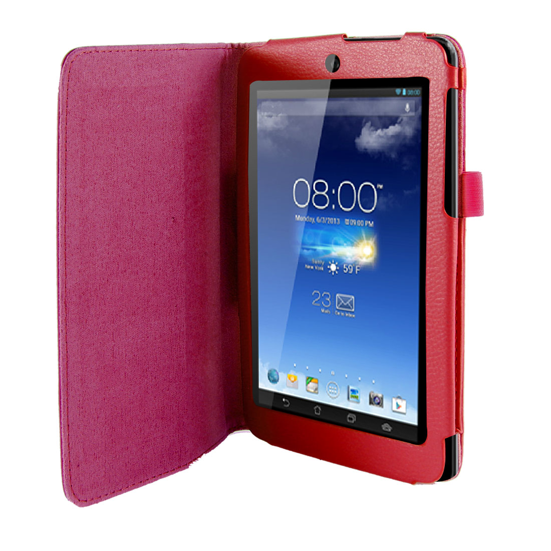 Stand Magnetic Flip Protective Case Cover Red for ASUS MeMO Pad HD 7 ME173X