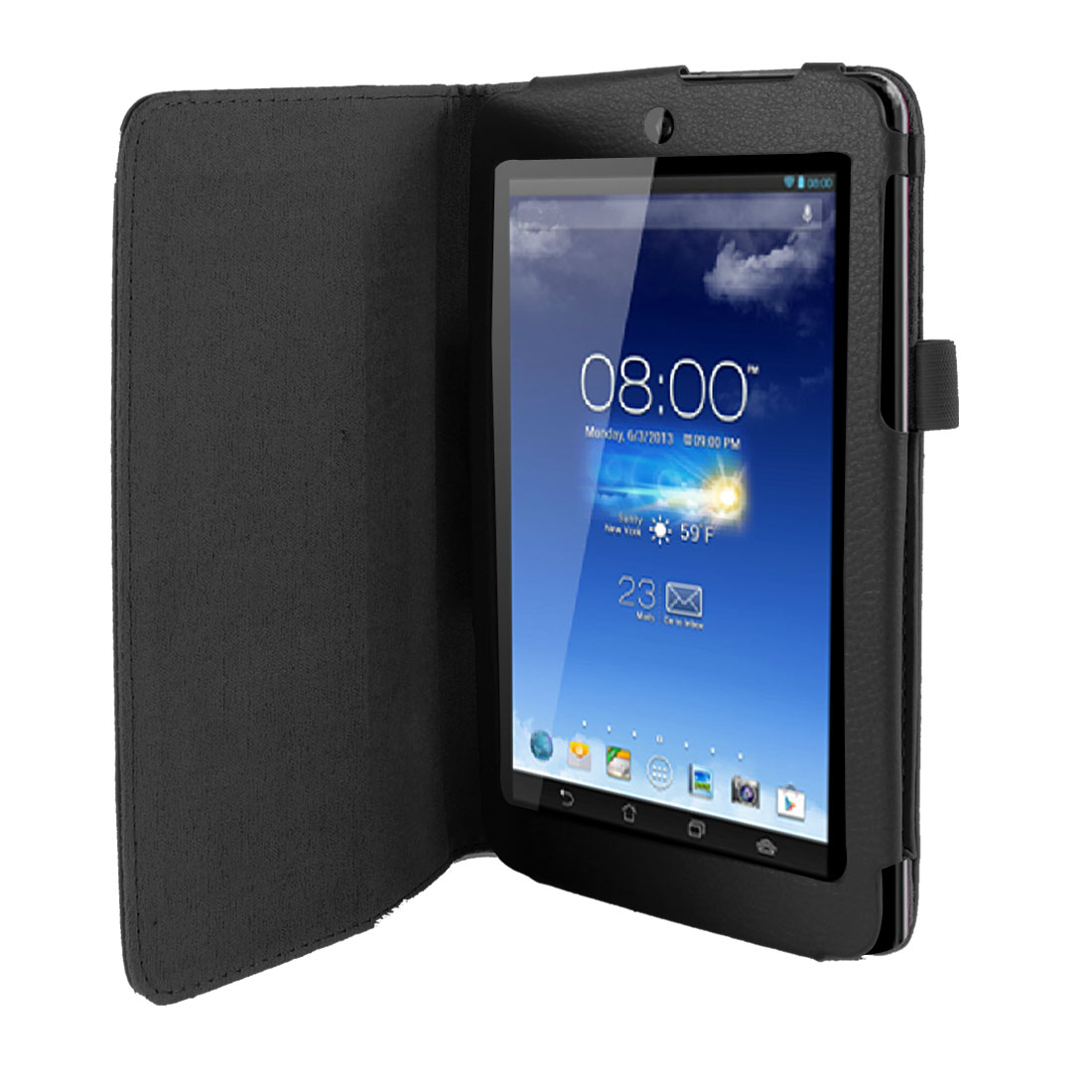 Stand Magnetic Flip Protective Case Cover Black for ASUS MeMO Pad HD 7 ME173X