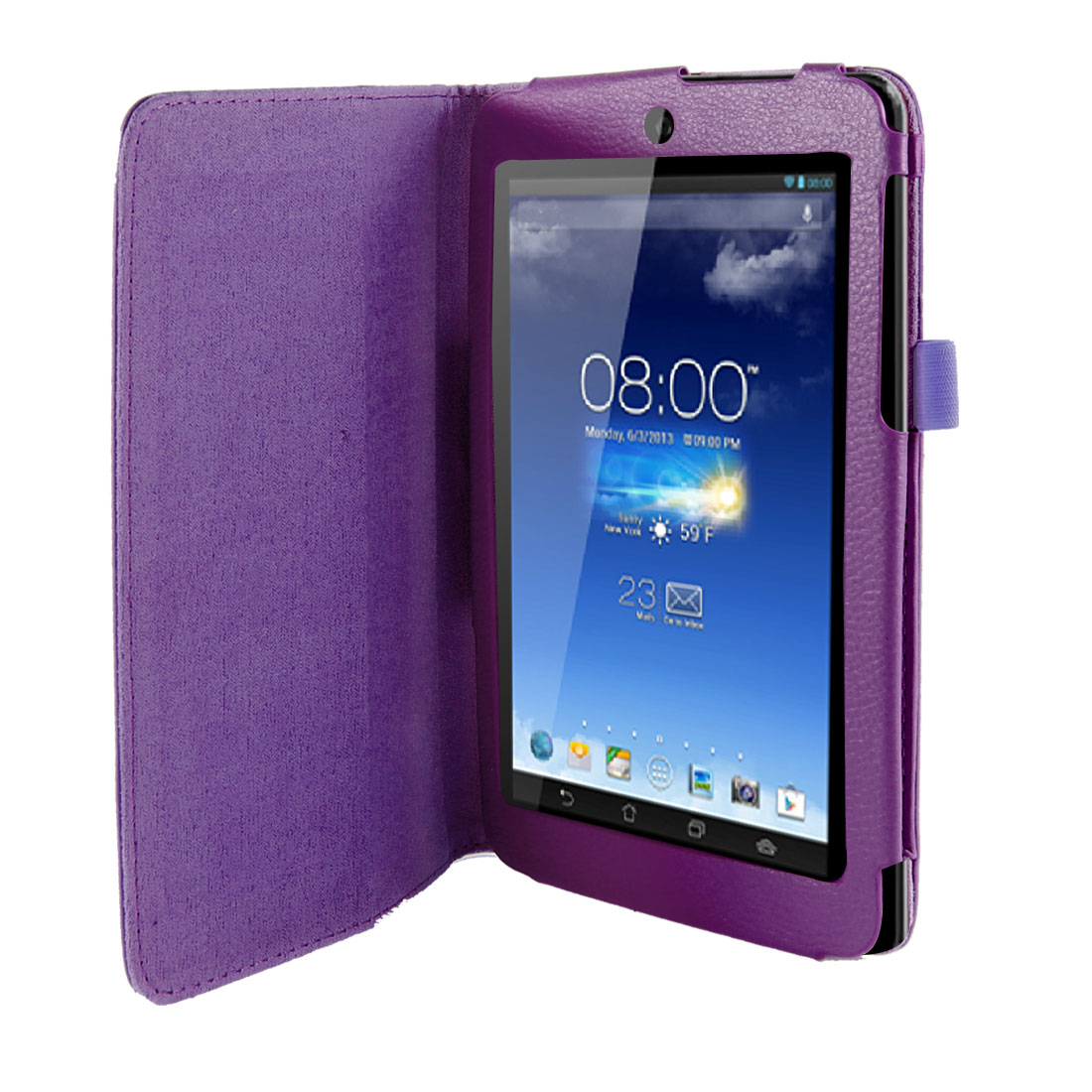 Stand Magnetic Flip Protective Case Cover Purple for ASUS MeMO Pad HD 7 ME173X