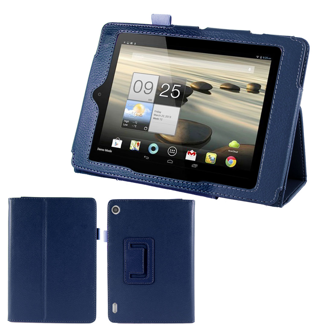 Dark Blue Faux Leather Magentic Stand Case Cover for Acer Iconia Tab A1-810 7.9""