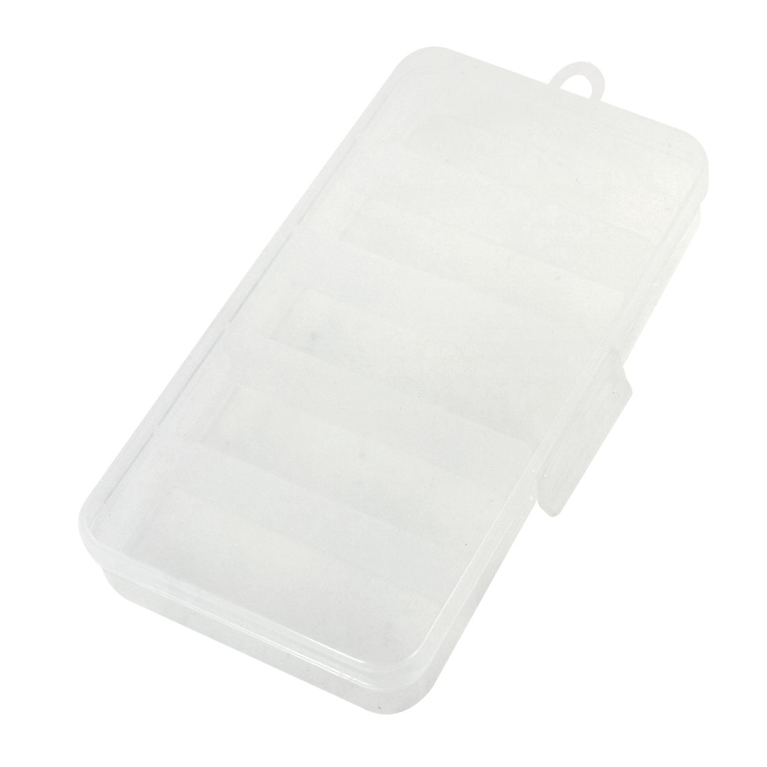 Plastic Fishing Trackle Storage Case Box 5-Compartment Clear White
