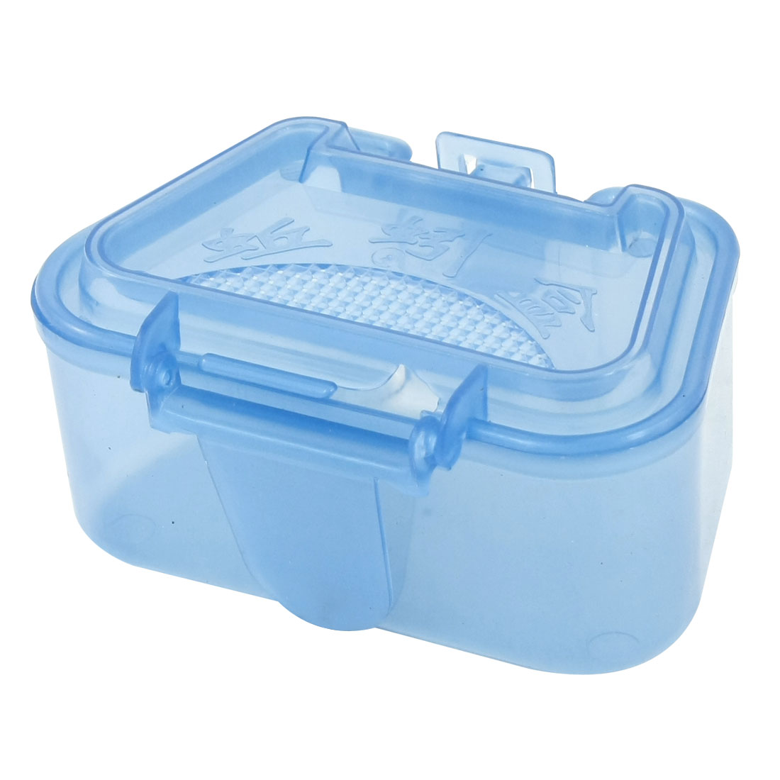 Blue Plastic Fishing Tackle Lure Bait Storage Case Box