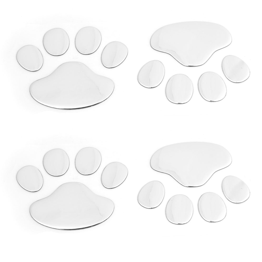 4 Pcs Dog Footprint Design Plastic Decoration 3D Badge Sticker for Vehicle Car