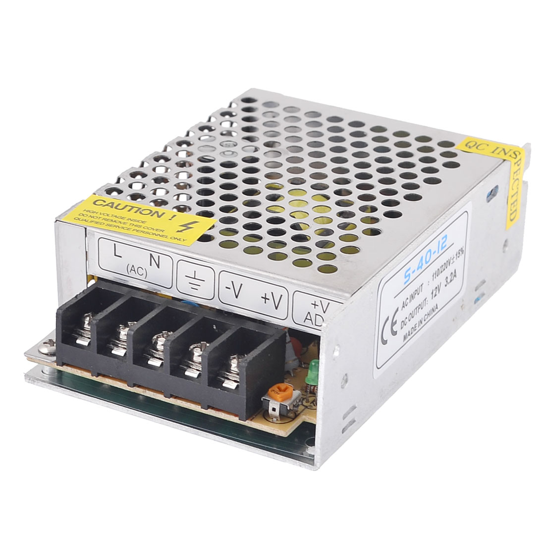 AC 110/220V 12VDC 3.2A 38W Metal Housing Switching Power Supply Converter