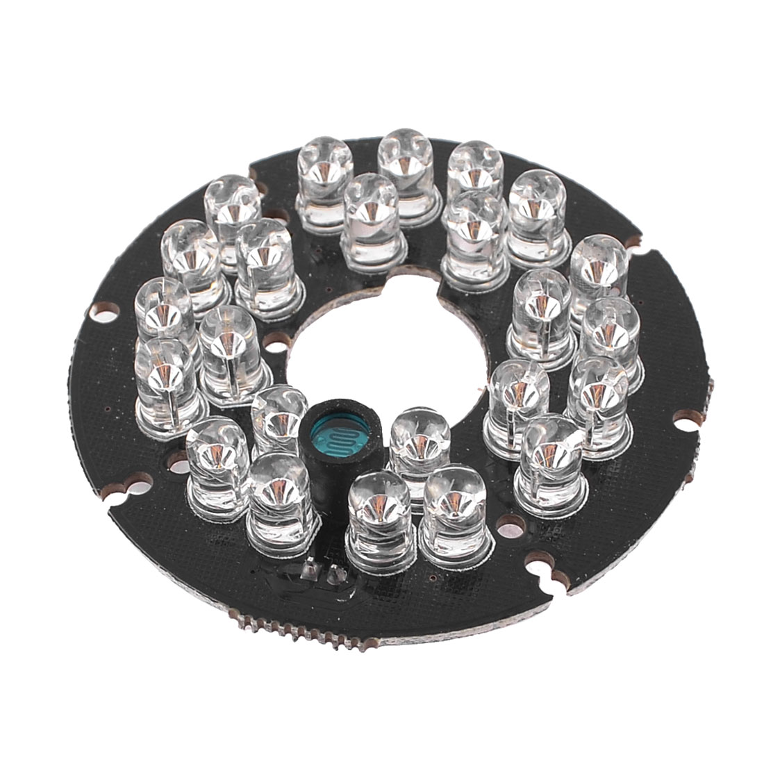 CCTV CCD Camera 60 Degree Bulb Red 24 LED Round IR Infrared Board Plate